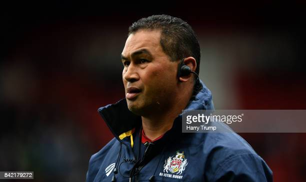 Pat Lam Head Coach of Bristol Rugby during the Greene King IPA Championship match between Bristol Rugby and Hartpury College at Ashton Gate on...