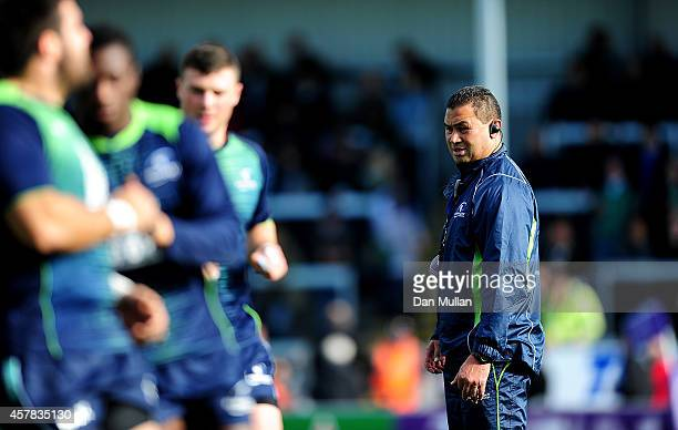 Pat Lam Head Coach of Connacht looks on ahead of the European Rugby Challenge Cup match between Exeter Chiefs and Connacht at Sandy Park on October...