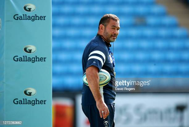 Pat Lam the Bristol Bears director of rugby looks on during the Gallagher Premiership Rugby match between Wasps and Bristol Bears at the Ricoh Arena...