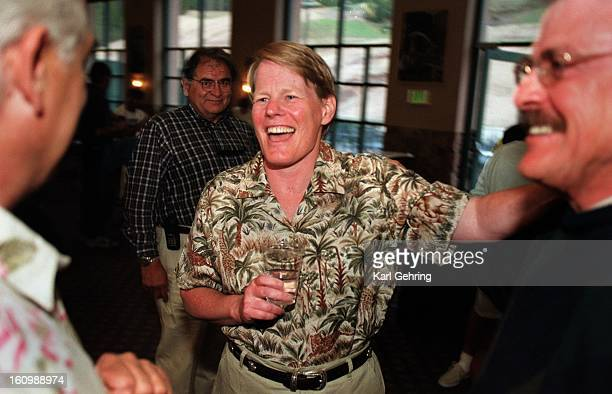 Pat MacLeod Schmidt center greeted friends during a 'Welcome Back Pat' reception at Copper Mountain Saturday night before a benefit golf tournament...