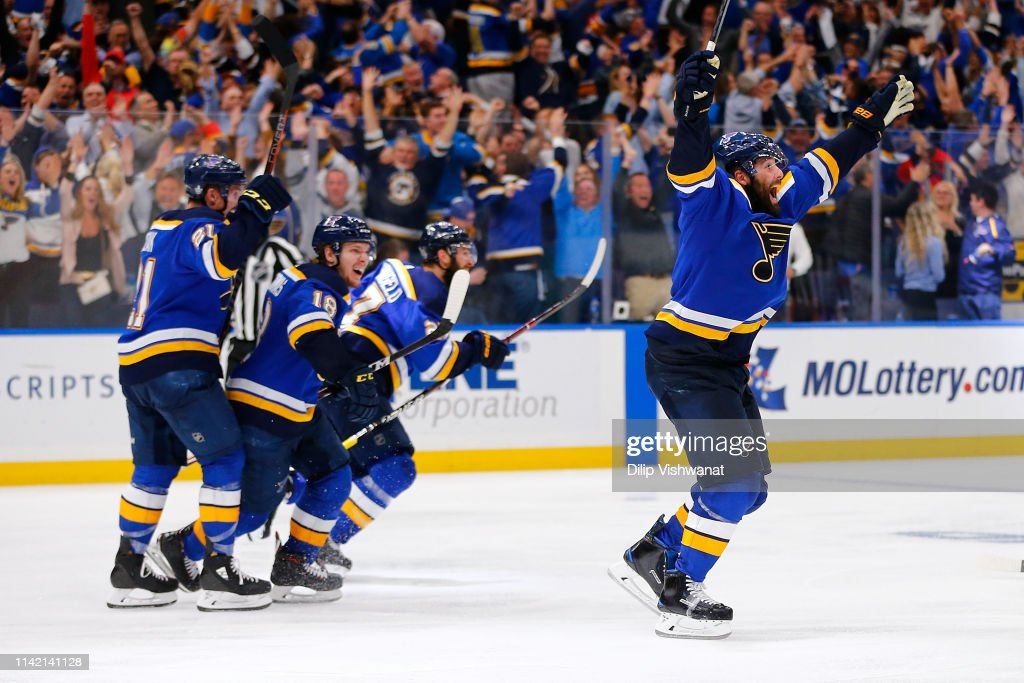 Dallas Stars v St Louis Blues - Game Seven : News Photo