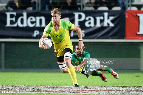 Pat McCutcheon of Australia during the match between Australia and Brazil during the HSBC PARIS SEVENS tournament at Stade Jean Bouin on May 13 2016...
