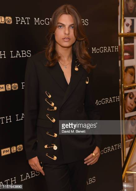 Pat McGrath Muse Damian Hurley launches the Pat McGrath Labs new product range 'Sublime Perfection The System' at Selfridges on July 25 2019 in...