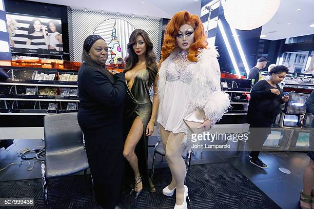 Pat McGrath Yasmine Petty and Kim Chi attend Pat McGrath's Skin Fetish 003 Launch at Sephora Union Square on May 3 2016 in New York City