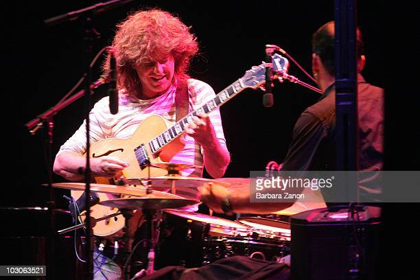 Pat Metheny performs on stage in Piazza San Marco during Venice Jazz Festival on July 23, 2010 in Venice, Italy.