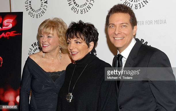 """Pat Mitchell, Liza Minnelli and Michael Feinstein attend the New York premiere of """"Liza?s At The Palace?"""" at The Paley Center for Media on November..."""