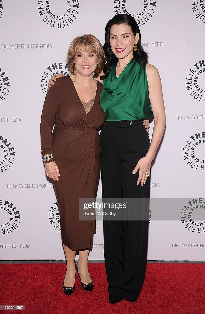Pat Mitchell, president and CEO of The Paley Center for Media and actress Julianna Margulies attend The Paley Center For Media Presents: 'She's Making Media: Julianna Margulies' at Paley Center For Media on February 20, 2013 in New York City.