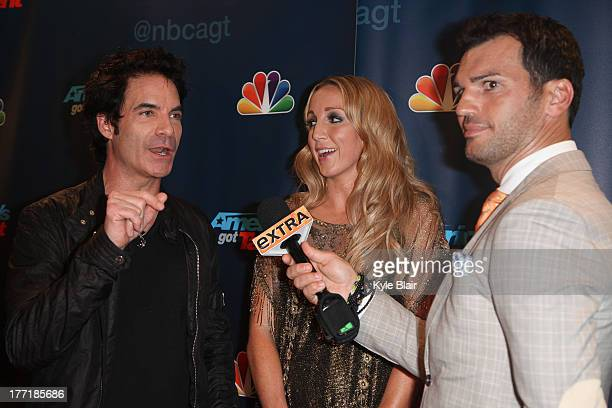 Pat Monahan and Ginean Rapp attend the America's Got Talent post show red carpet at Radio City Music Hall on August 21 2013 in New York City