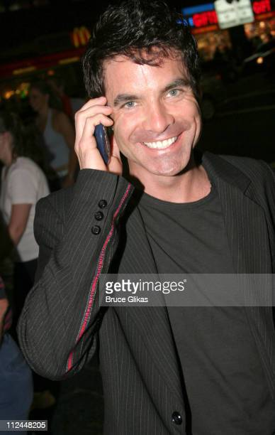 Pat Monahan during Pat Monahan of the Band 'Train' Walking in Times Square at Times Square in New York New York United States