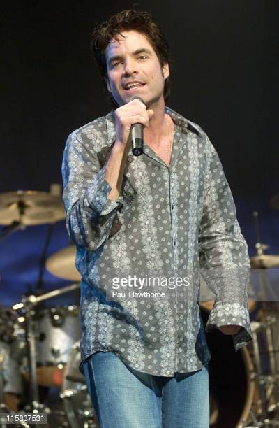 Pat Monahan during Train In Concert at the Hammerstein Ballroom July 22 2003 New York at Hammerstein Ballroom in New York City New York United States