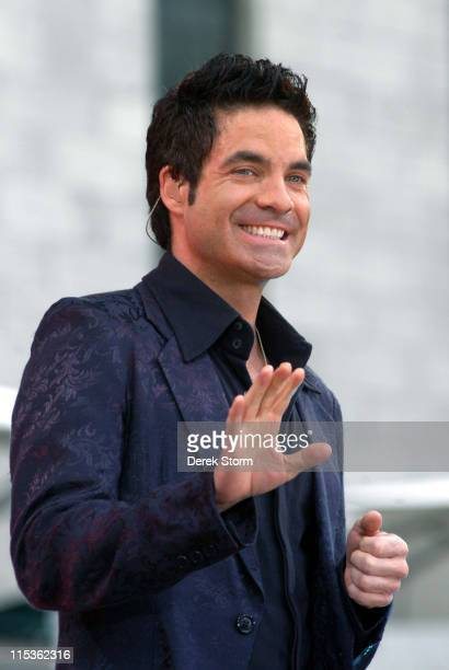 Pat Monahan of Train during Train Performs at 'Good Morning America' Summer Concert Series at Bryant Park in New York City NY United States