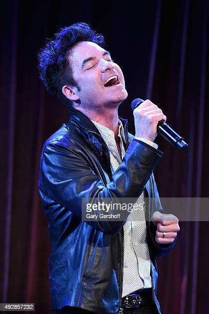 Pat Monahan of Train performs onstage at the TJ Martell 40th Anniversary NY Gala at Cipriani Wall Street on October 15 2015 in New York City