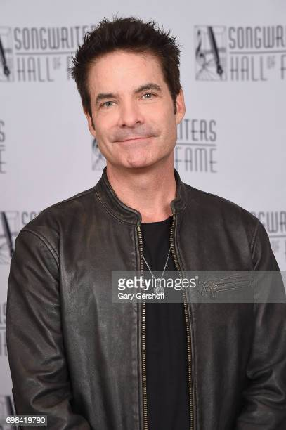 Pat Monahan poses backstage at the Songwriters Hall Of Fame 48th Annual Induction and Awards at New York Marriott Marquis Hotel on June 15 2017 in...