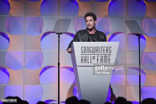 Pat Monahan speaks onstage at the Songwriters Hall Of Fame 48th Annual Induction and Awards at New York Marriott Marquis Hotel on June 15 2017 in New...