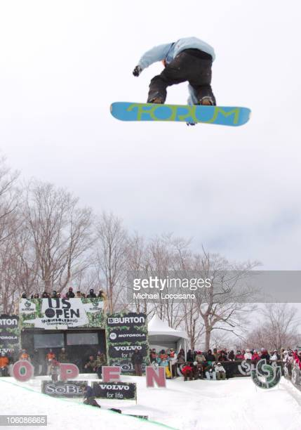 Pat Moore Halfpipe Finals March 18th during 24th Annual Burton US Open Snowboarding Championships at Stratton Mountain in Stratton Vermont United...