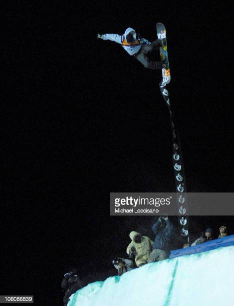 Pat Moore Quarterpipe Finals March 17th during 24th Annual Burton US Open Snowboarding Championships at Stratton Mountain in Stratton Vermont United...