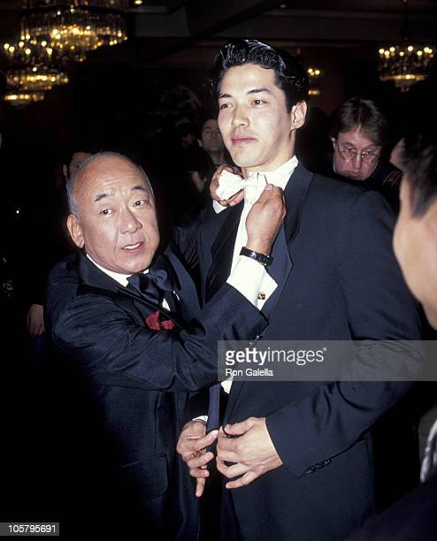 Pat Morita and Russell Wong during 7th Annual AAPAA Media Awards at Beverly Hilton Hotel in Beverly Hills California United States