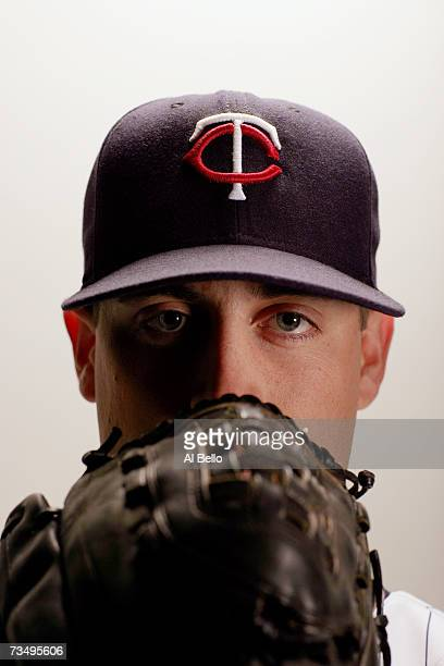 Pat Neshek of the Minnesota Twins poses during Photo Day on February 26 2007 at Hammond Stadium in Fort Myers Florida