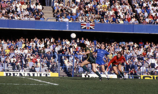 Pat Nevin of Chelsea in action during the Canon League Division One match between Chelsea and Leicester City held on September 29, 1984 at Stamford...