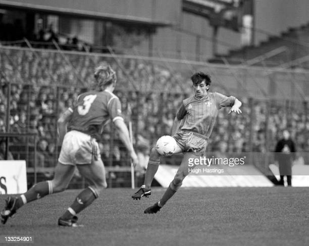 Pat Nevin of Chelsea in action during the Canon League Division One match between Nottingham Forest and Chelsea held on April 12 1986 at the City...