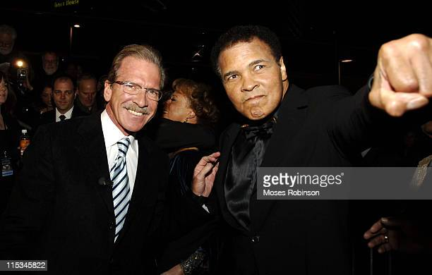 Pat O'Brien and Muhammad Ali during Muhammad Ali Center Grand Opening Red Carpet at Muhammed Ali Center in Louisville Kentucky United States