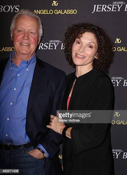 Pat O'Connor and wife Mary Elizabeth Mastrantonio attend a special New York screening reception for 'Jersey Boys' hosted by Angelo Galasso at Angelo...
