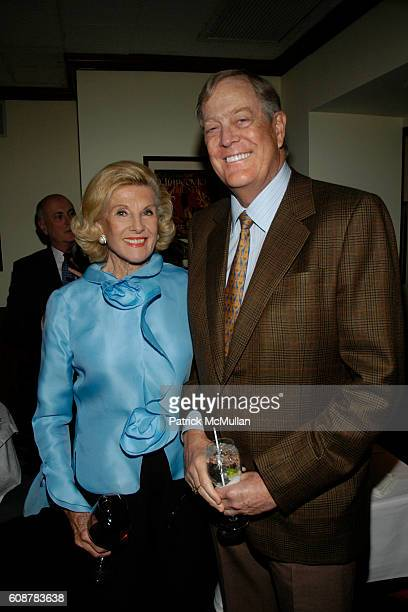 Pat Patterson and David Koch attend MARIANNE JOHN CASTLE Host a Dinner Party at Primola on October 21 2007 in New York City