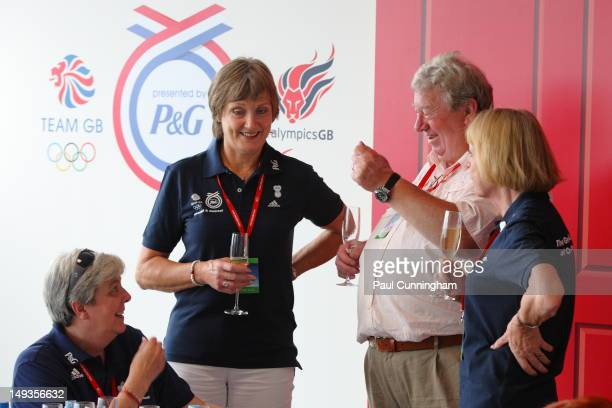 Pat Payne mother of KeriAnne Payne of Team GB and Pat Radcliffe mother of Paula Radcliffe of Team GB with David Hoy and Carol Hoy father and mother...
