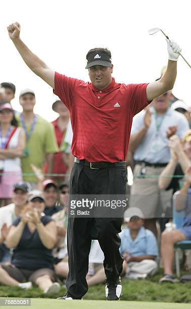 Pat Perez during the fourth and final round of the Canadian Open held on the North Course at Angus Glen Golf Club in Markham Ontario Canada on July...