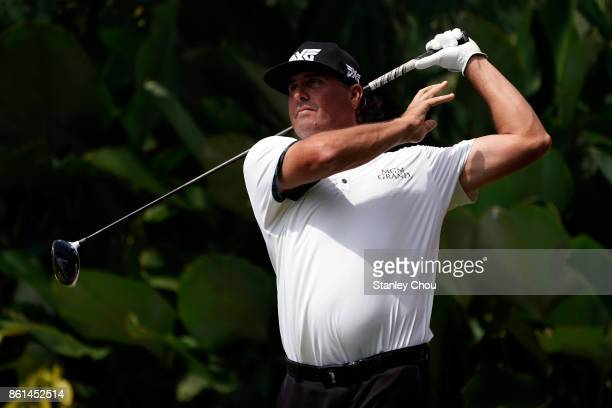 Pat Perez of the United States in action during the final round of the 2017 CIMB Classic at TPC Kuala Lumpur on October 15 2017 in Kuala Lumpur...