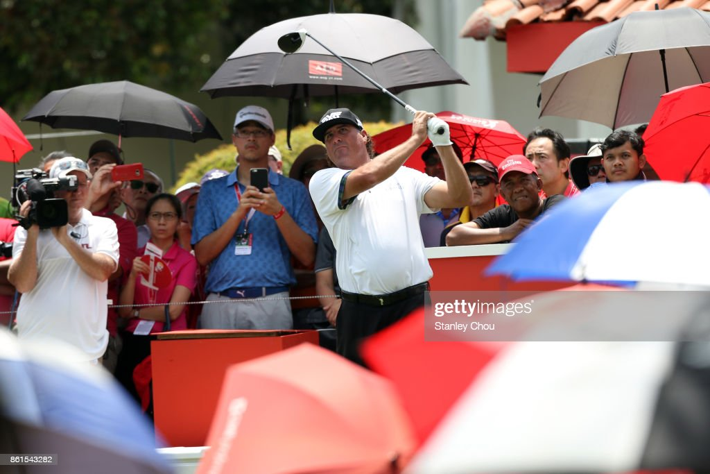 Pat Perez of the United States in action during the final round of the 2017 CIMB Classic at TPC Kuala Lumpur on October 15, 2017 in Kuala Lumpur, Malaysia.