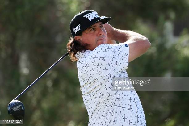 Pat Perez of the United States plays a shot during practice prior to the Sony Open in Hawaii at the Waialae Country Club on January 07 2020 in...
