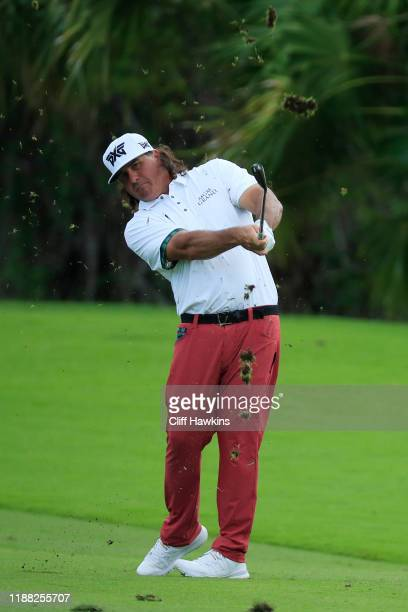 Pat Perez of the United States plays a shot from the 17th fairway during the third round of the Mayakoba Golf Classic at El Camaleon Mayakoba Golf...