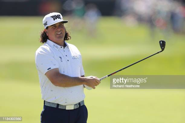 Pat Perez of the United States plays his second shot on the first hole during the first round of the Arnold Palmer Invitational Presented by...