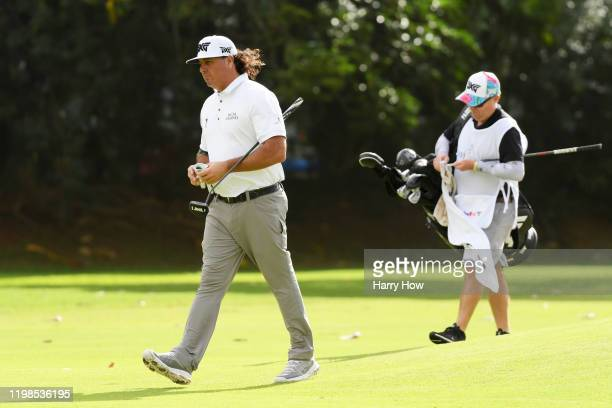 Pat Perez of the United States walks on the tenth hole during the first round of the Sony Open in Hawaii at the Waialae Country Club on January 09...