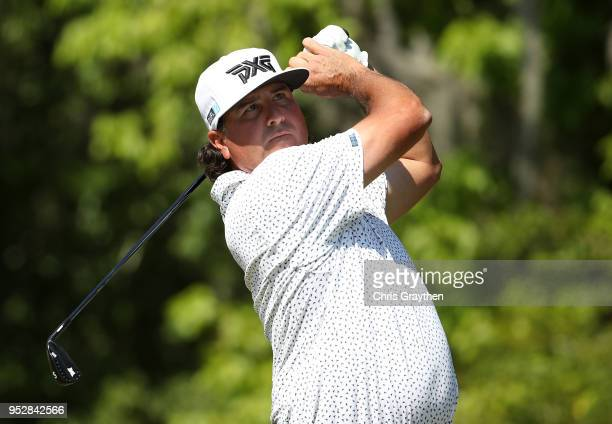 Pat Perez plays his shot from the 16th tee during the final round of the Zurich Classic at TPC Louisiana on April 29 2018 in Avondale Louisiana