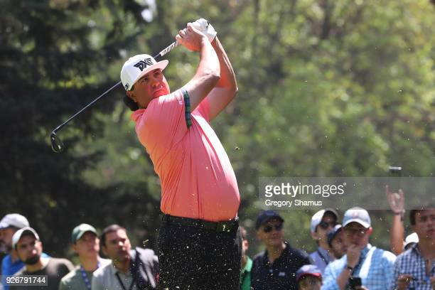 Pat Perez plays his shot from the third tee during the third round of World Golf ChampionshipsMexico Championship at Club de Golf Chapultepec on...