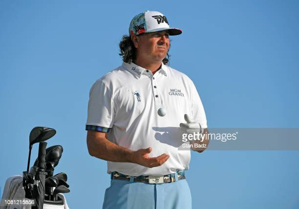 Pat Perez waits on the 17th hole during the second round of the Sony Open in Hawaii at Waialae Country Club on January 11 2019 in Honolulu Hawaii