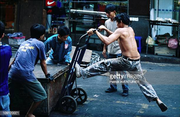 Pat Pong, The Hottest Street Of Bangkok On January 1St, 2001 In Bangkok, Thailand. Installing The Night Bazar