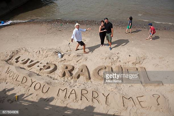 Pat proposes to Rachel on the beach and his proposal is accepted having employed the talents of a sand sculpter to surprise his girlfrield the newly...