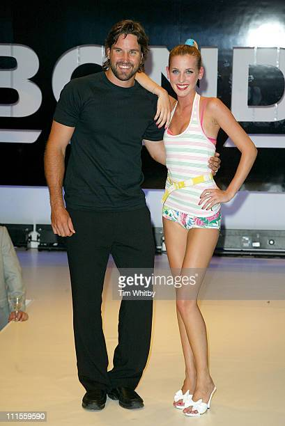 Pat Rafter and Ayesha Makim during Bonds Clothing UK Launch Party Show at Sketch in London Great Britain