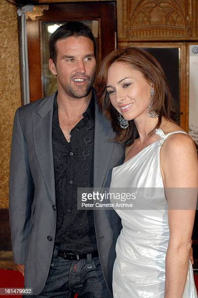 Pat Rafter and Lara Feltham arrives for the Sydney premiere of the film 'The Bourne Ultimatum' at the State Theatre on August 07 2007 in Sydney...