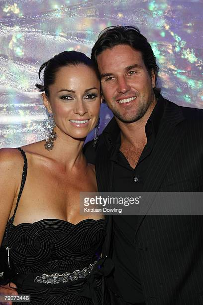 Pat Rafter and wife Lara Feltham attend the Australian Open Ball 2008 held at the Hyatt Hotel on January 26 2008 in Melbourne Australia