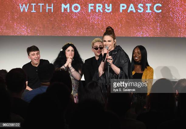 Pat Regan Annie Donley Dave Mizzoni Mo Fry Pasic Sydnee Washington speak onstage at Vulture Festival presented by ATT Las Culturistas Live at Milk...