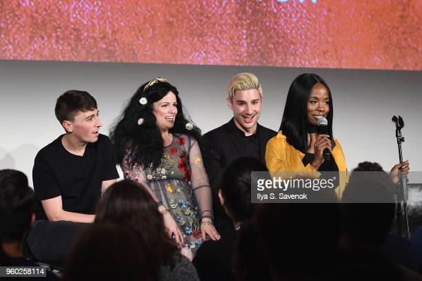 Pat Regan Annie Donley Dave Mizzoni Sydnee Washington speak onstage at Vulture Festival presented by ATT Las Culturistas Live at Milk Studios on May...