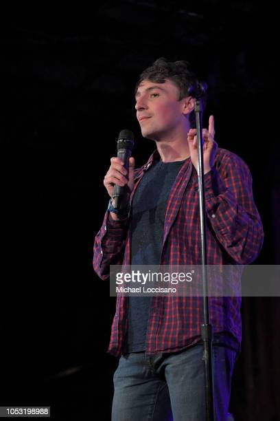 Pat Regan performs during the Movement Voter Project comedy benefit at The Bell House on October 24 2018 in the Brooklyn borough of New York City