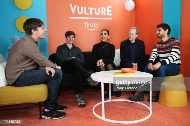 Pat Regan Simon Rich Geraldine Viswanathan Steve Buscemi and Karan Soni attend The Vulture Spot presented by Amazon Fire TV 2020 at The Vulture Spot...