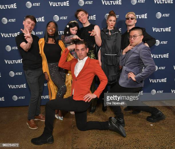 Pat Regan Sydnee Washington Annie Donley Peter Smith Mo Fry Pasic Dave Mizzoni and Bowen Yang and Matt Rogers attend the Vulture Festival Presented...