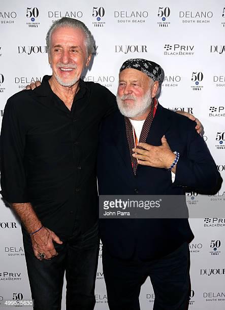 Pat Riley and Bruce Weber attend DuJour Magazine's Jason Binn Celebrates Annual Art Basel Miami Beach KickOff Party presented by Blackberry PRIV 50...