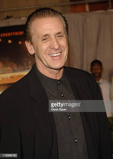 """Pat Riley during Walt Disney Pictures and Jerry Bruckheimer Films' Premiere """"Glory Road"""" at Pantages Theatre in Hollywood, California, United States."""